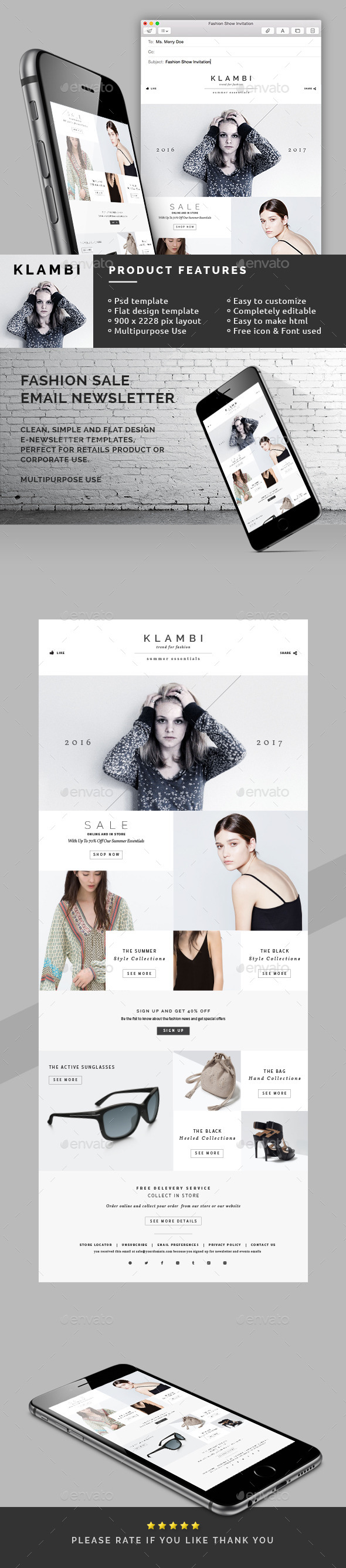Fashion Sale Email Newsletter - E-newsletters Web Elements