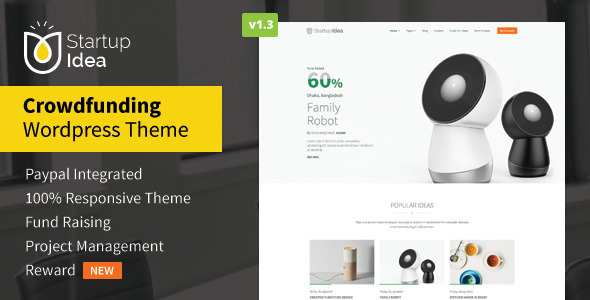 Startup Idea – Crowdfunding WordPress Theme