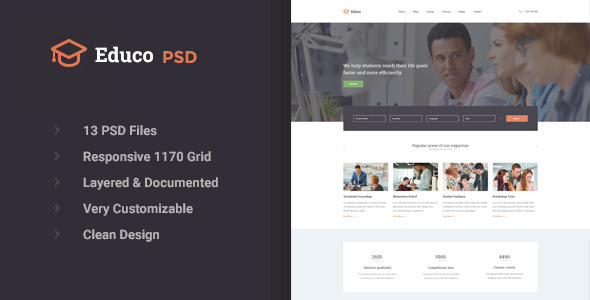 Educo – Educational PSD Template