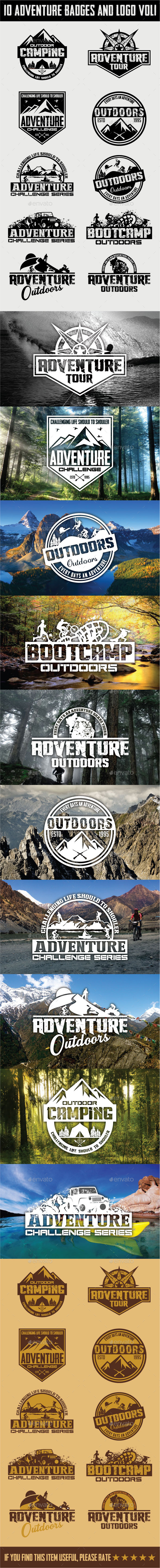 10 Adventure Badges and Logo Vol1 - Badges & Stickers Web Elements
