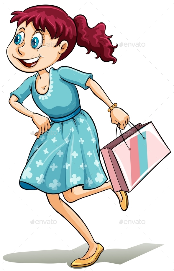 Lady with a Shopping Bag - People Characters