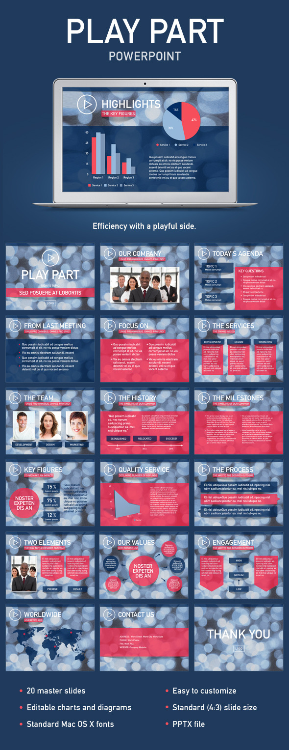 Play Part PowerPoint Template - Creative PowerPoint Templates