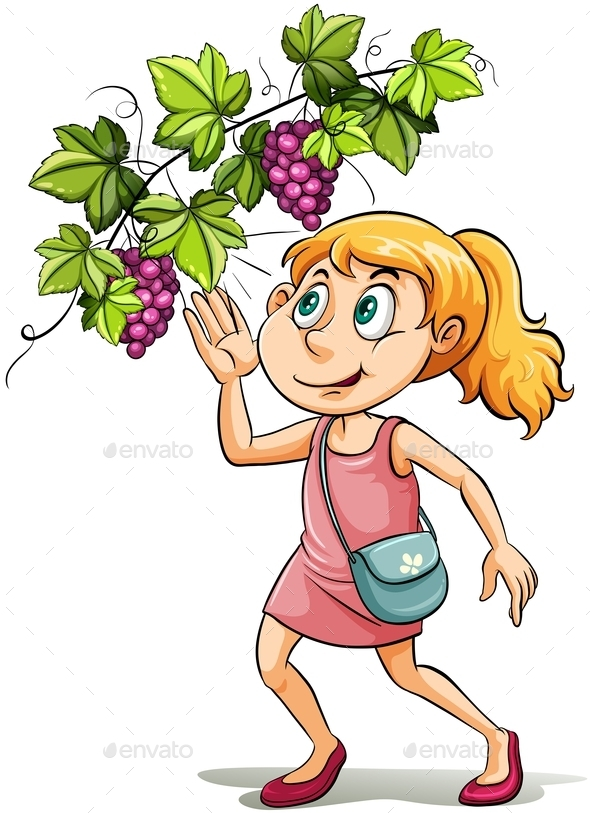 A Girl and a Grapevine - People Characters
