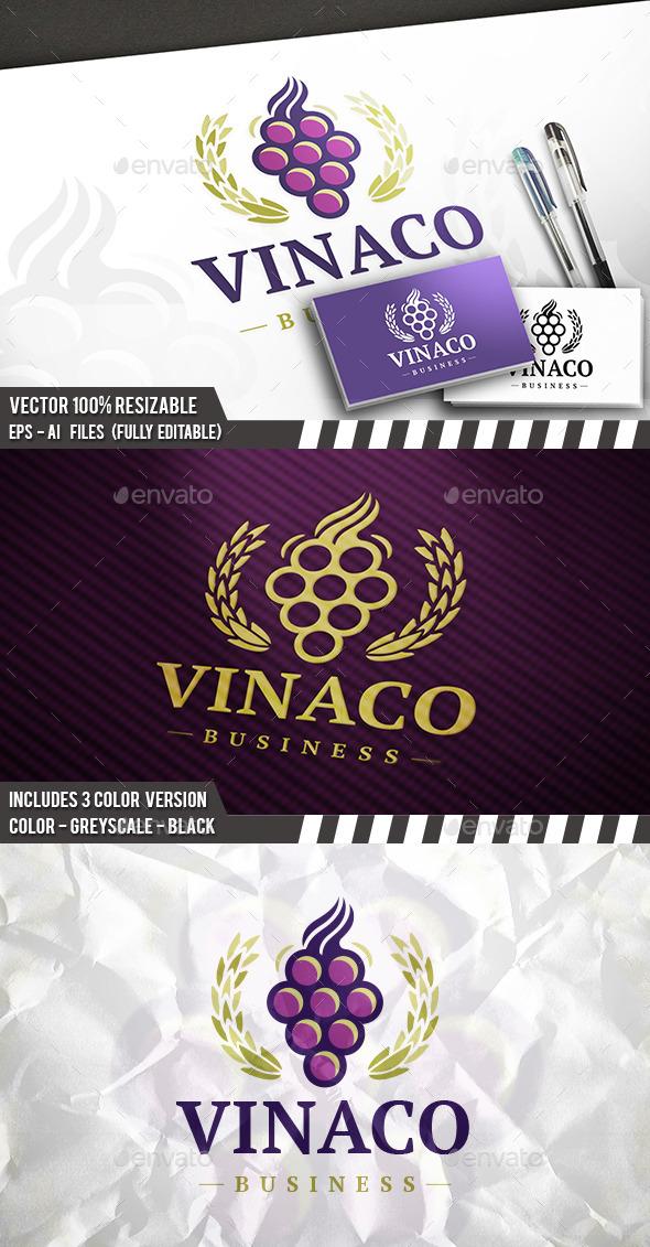 Wine Label Logo - Food Logo Templates