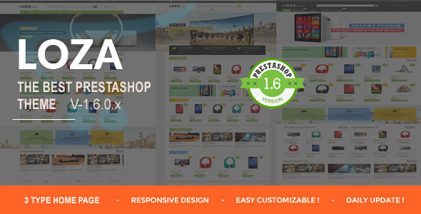 Lozastore-Multipurpose Responsive PrestaShop Theme - Shopping PrestaShop