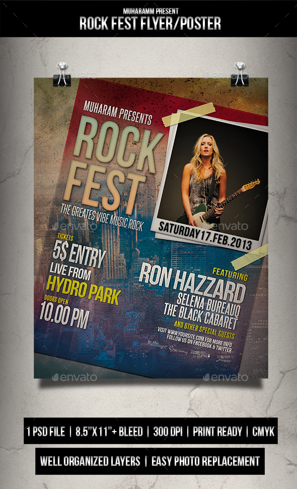 Rock Fest Flyer / Poster - Events Flyers