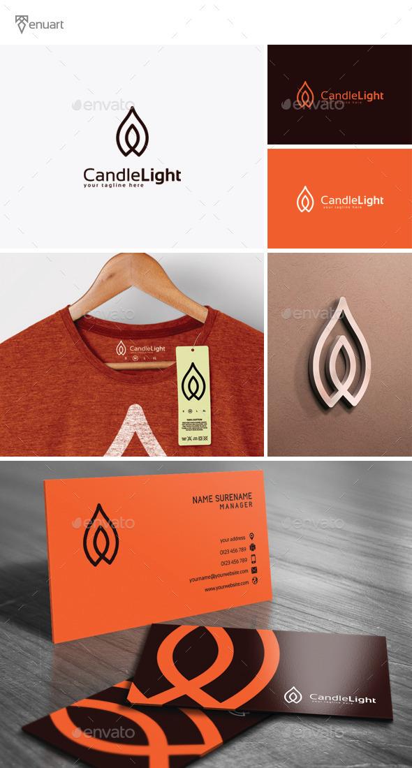 Candle Light Logo - Symbols Logo Templates