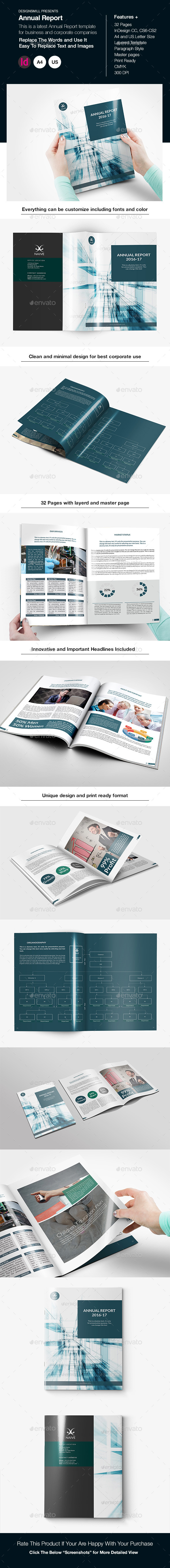 Annual Report Template - Miscellaneous Print Templates