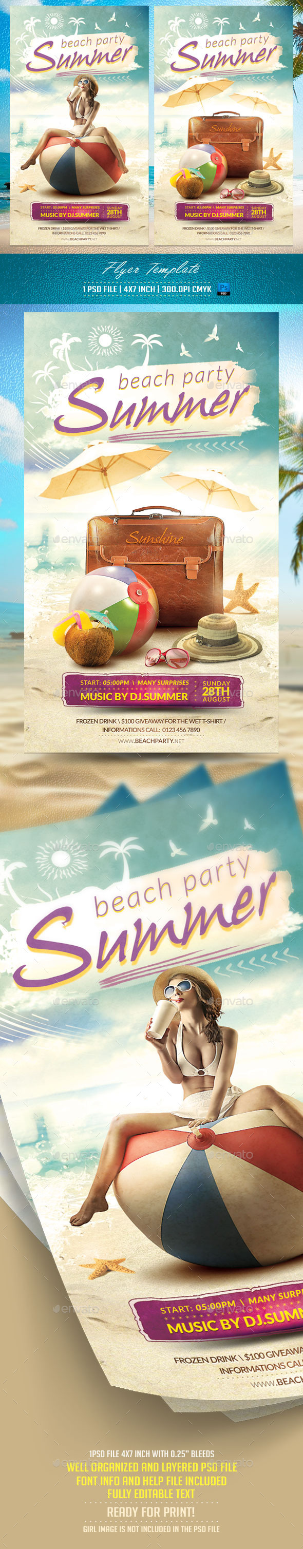 Summer Flyer Template v2 - Clubs & Parties Events