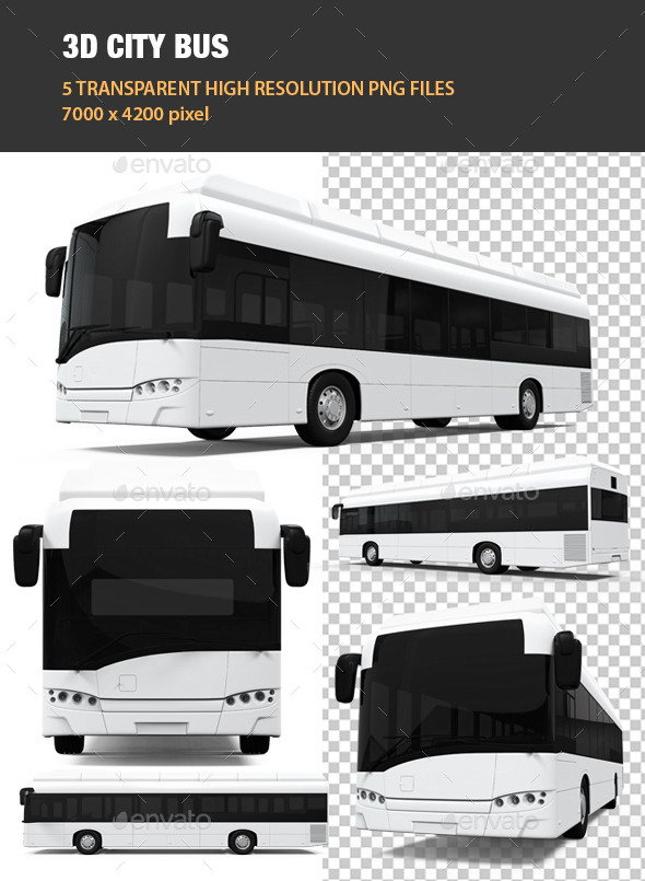 3D City Bus - Objects 3D Renders
