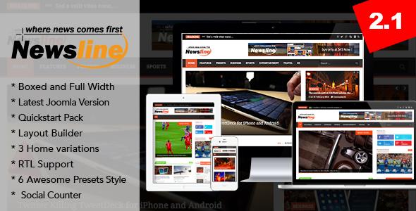 Newsline – Responsive Magazine Joomla Template