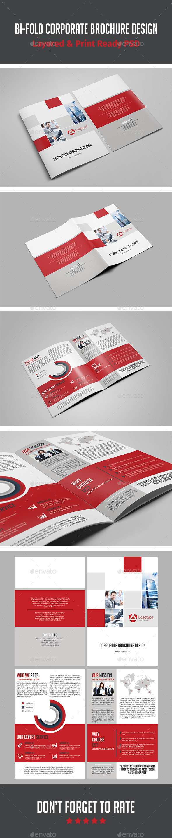 Bi-fold Corporate Brochure Design - Corporate Brochures