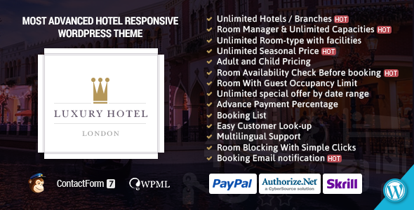 Luxury | Online Hotel Booking Reservation Theme - Travel Retail