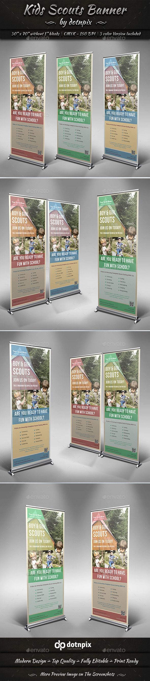 Kids Scouts Banner - Signage Print Templates