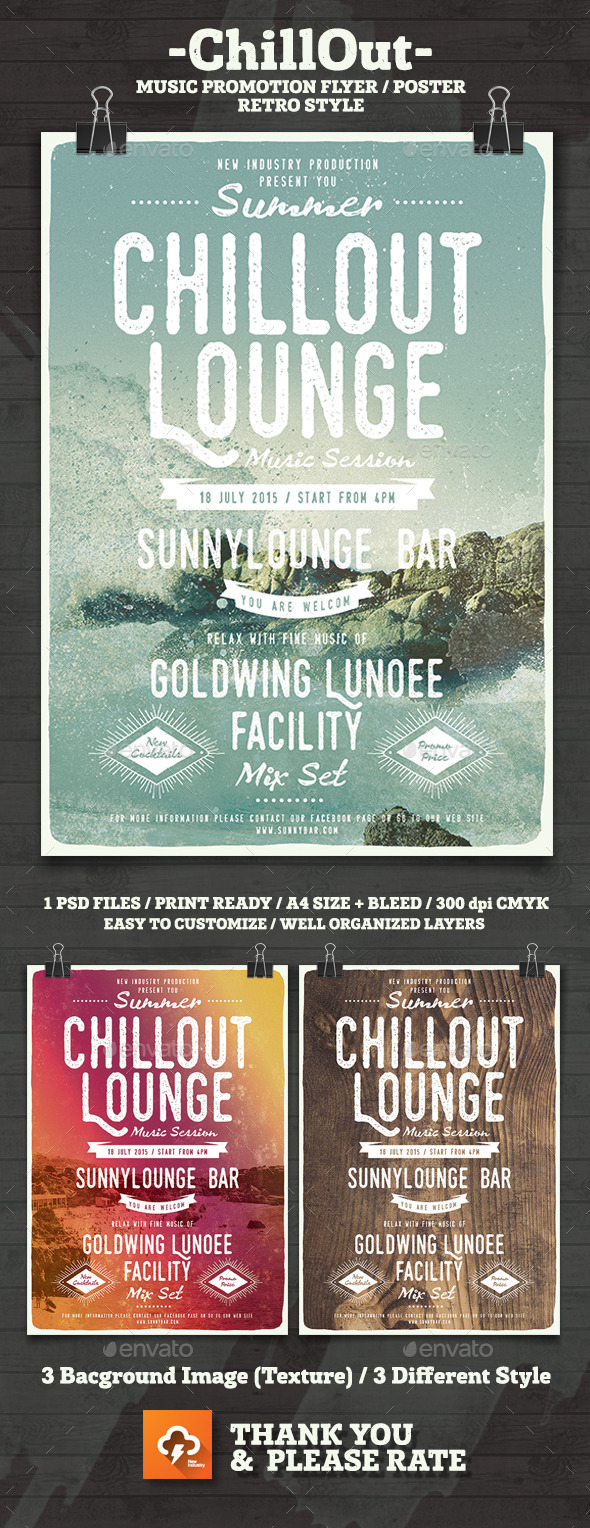 ChillOut Lounge Poster/Flyer - Flyers Print Templates