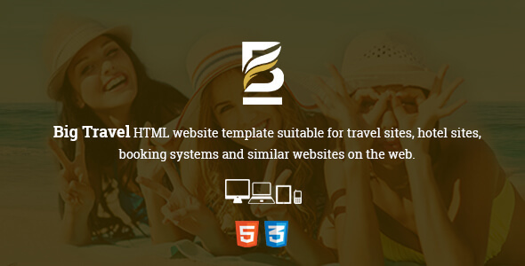 Big Travel Responsive HTML5 Template