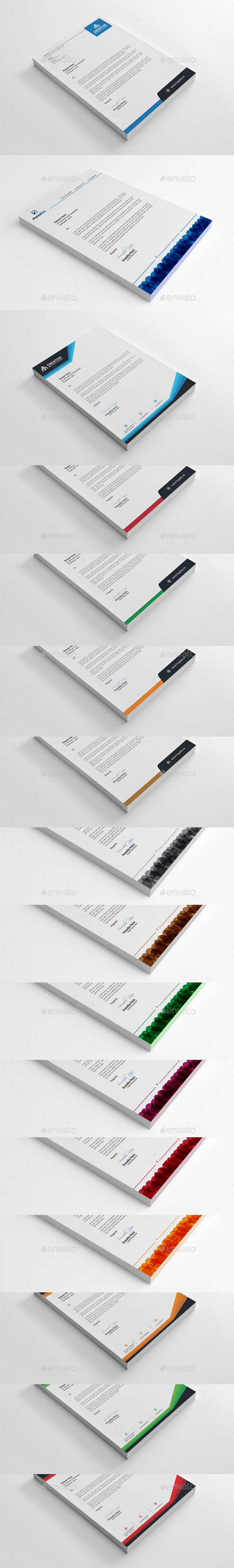 Letterhead Bundle Collection - Stationery Print Templates