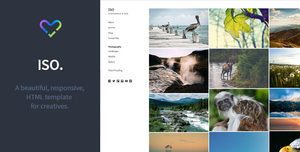 ISO - Responsive, Creative HTML Template - Photography Creative