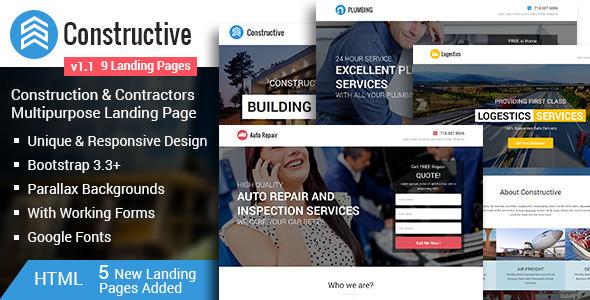 Constructive-Contractors Multipurpose Landing Page