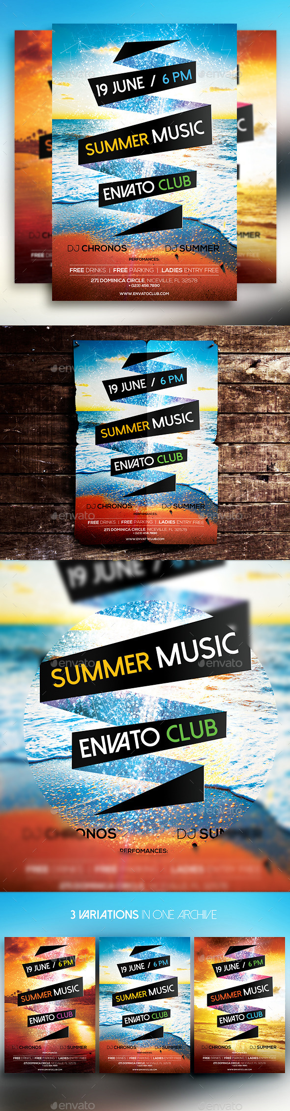 Summer Music Flyer - Clubs & Parties Events