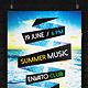 Summer Music Flyer - GraphicRiver Item for Sale