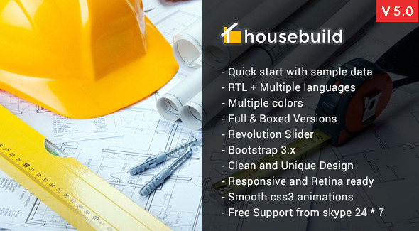 Housebuild – Joomla Construction Business Theme