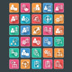 Flat Project Management Icons - GraphicRiver Item for Sale