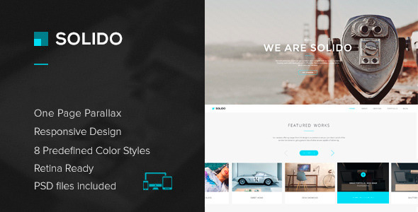 Solido - Responsive One Page Parallax Template - Creative Site Templates