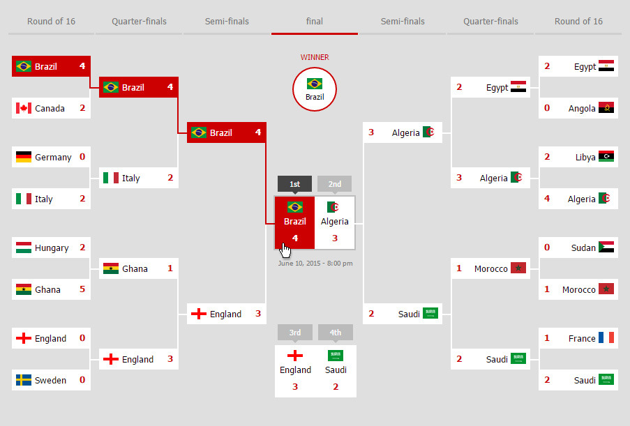 Bracketz, Interactive Html5 Tournament Bracket By Domany_ | Codecanyon
