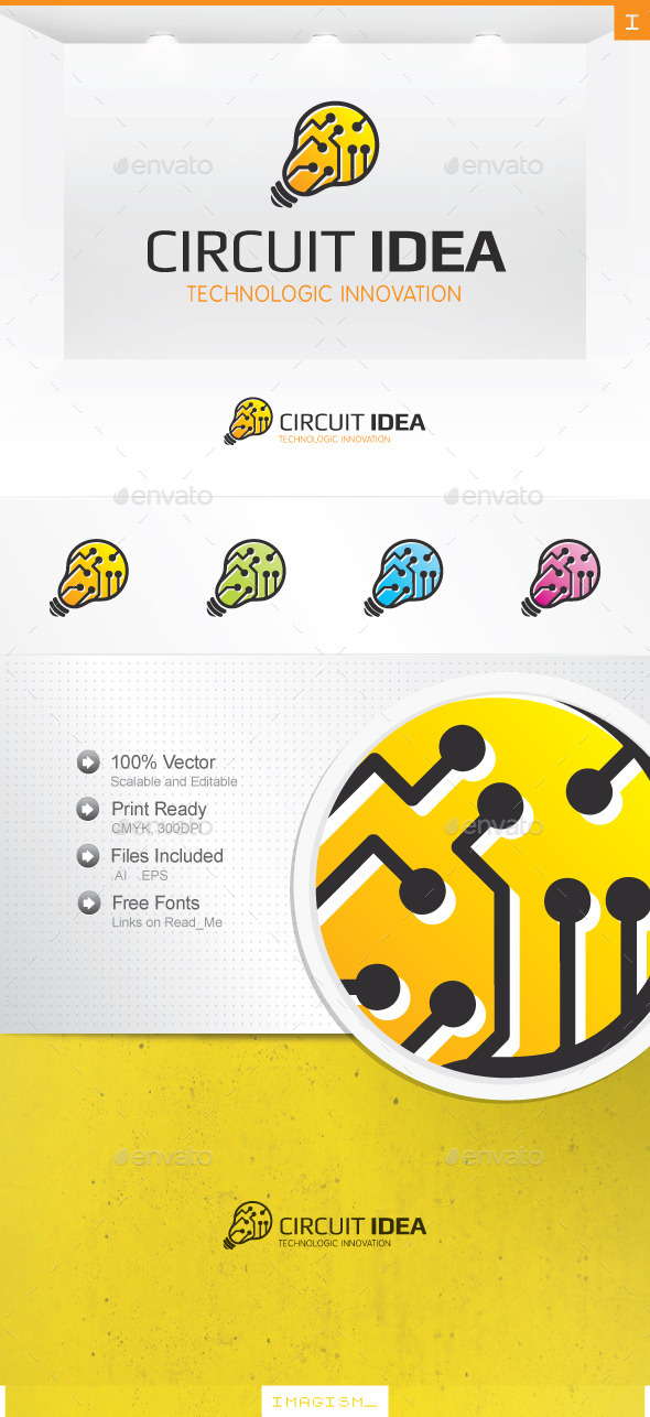 Circuit Idea Logo - Objects Logo Templates