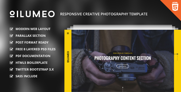 Oilumeo – Responsive Creative Photography Template