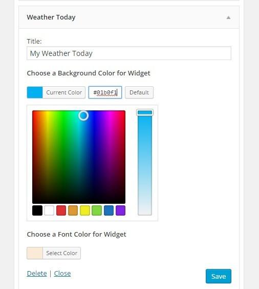 Creo Weather Today WordPress Widget Plugin