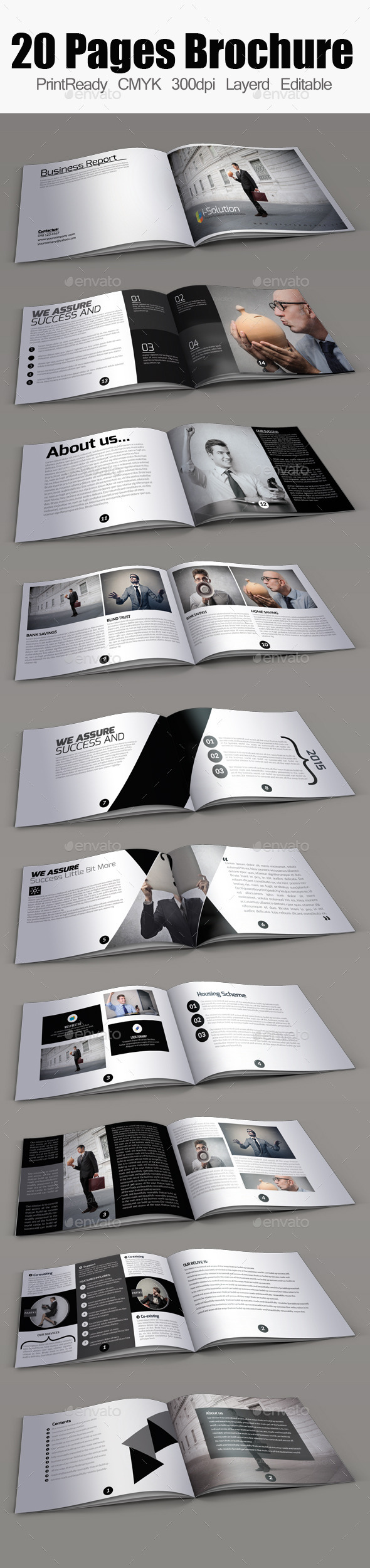 20 pages Bifold Brochure Template - Corporate Brochures