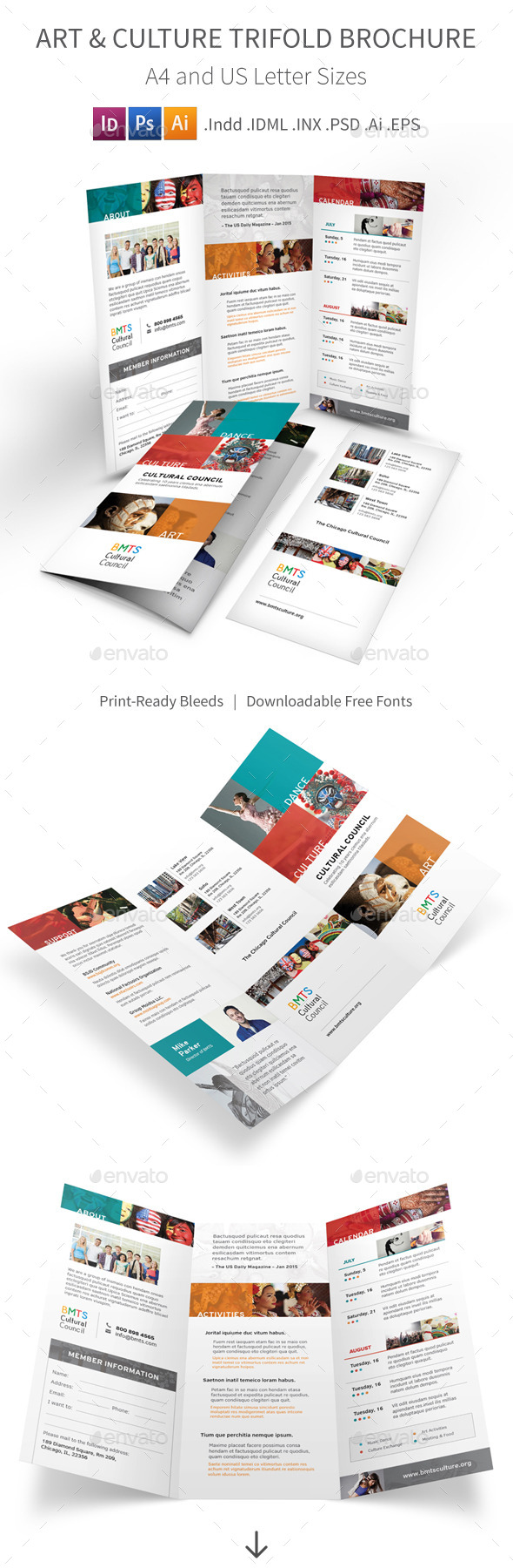 Art and Culture Trifold Brochure - Informational Brochures