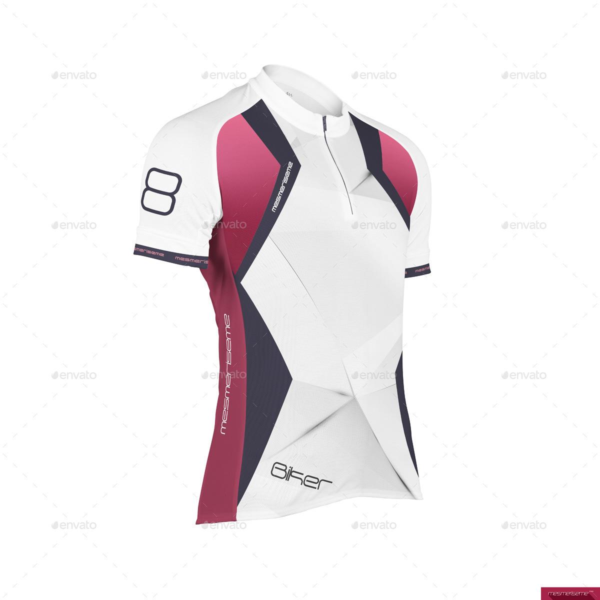 Bike Jersey Short Zip Mock-up by mesmeriseme pro  5ade7e0e6