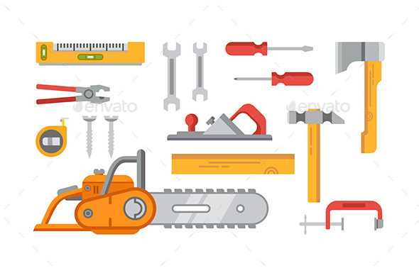 Construction Tools Objects - Man-made Objects Objects