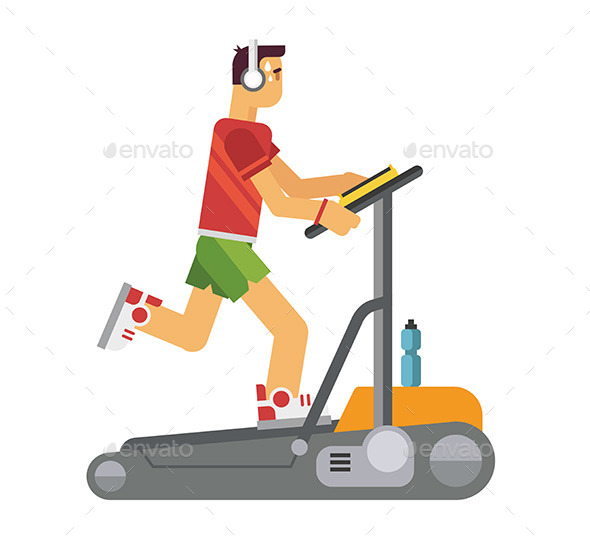 Athlete Running on a Treadmill - Sports/Activity Conceptual