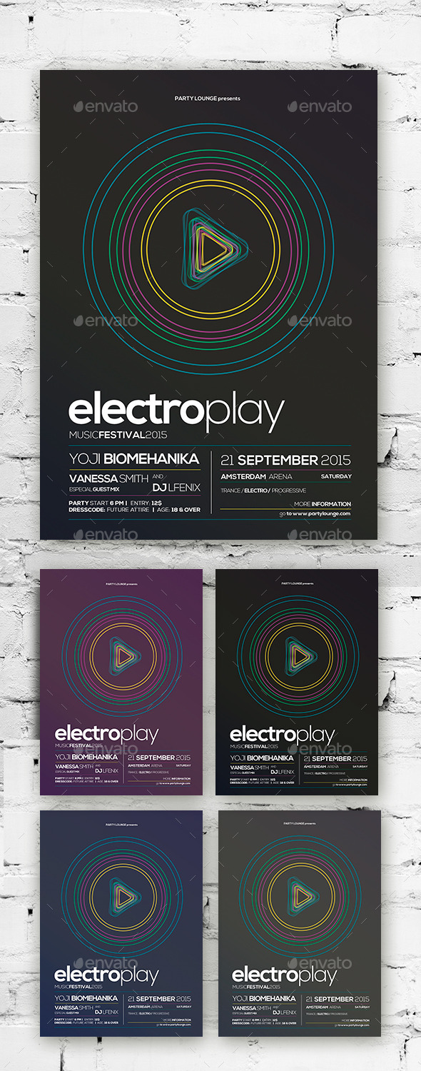 Electro Flyer / Poster Vol. 01 - Clubs & Parties Events