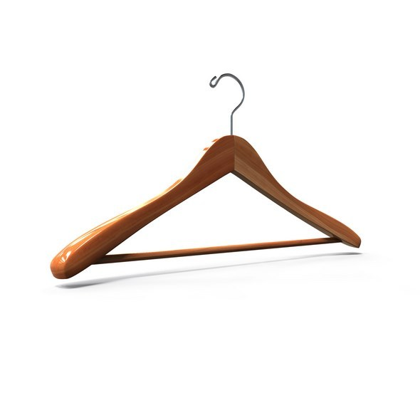 Cedar Coat Hanger - 3DOcean Item for Sale
