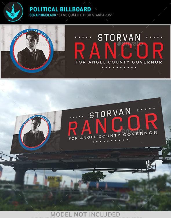 Political Billboard Template - Signage Print Templates