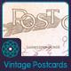 Vintage Postcard Backs - GraphicRiver Item for Sale