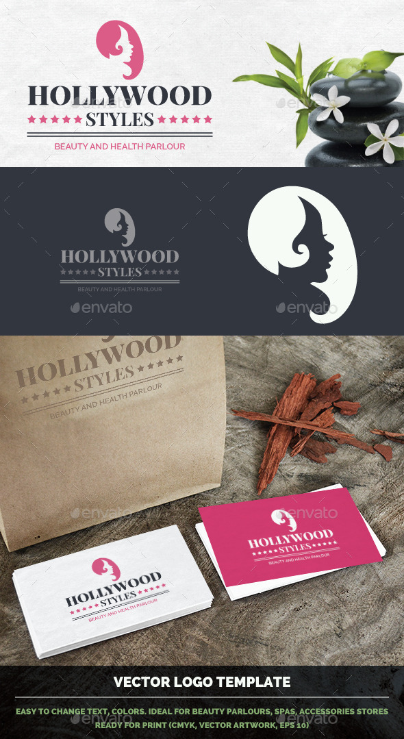 Spa, Beauty Parlor, Hairdresser Vector Logo - Humans Logo Templates