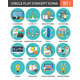 Circle Colorful Concept Icons - GraphicRiver Item for Sale
