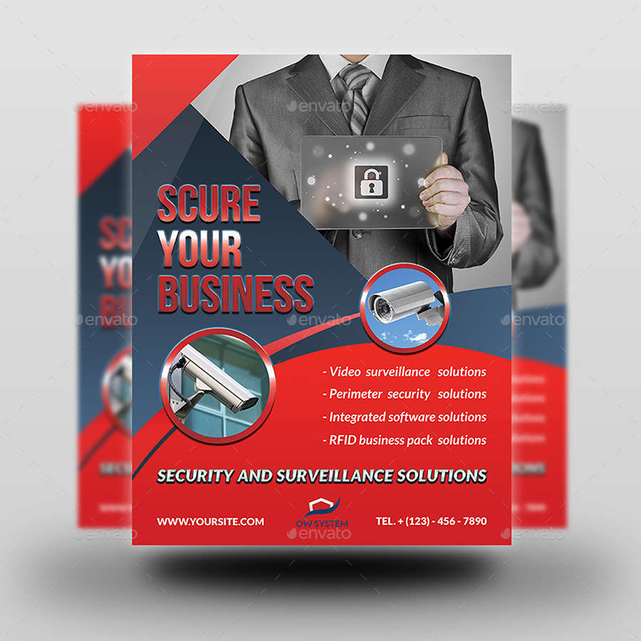 Security System Flyer Template By Owpictures Graphicriver