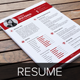 Resume & Cover Letter Template v4  - GraphicRiver Item for Sale