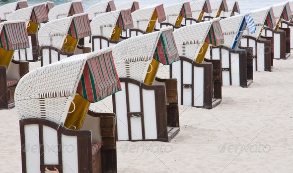 Beach chairs - Stock Photo - Images