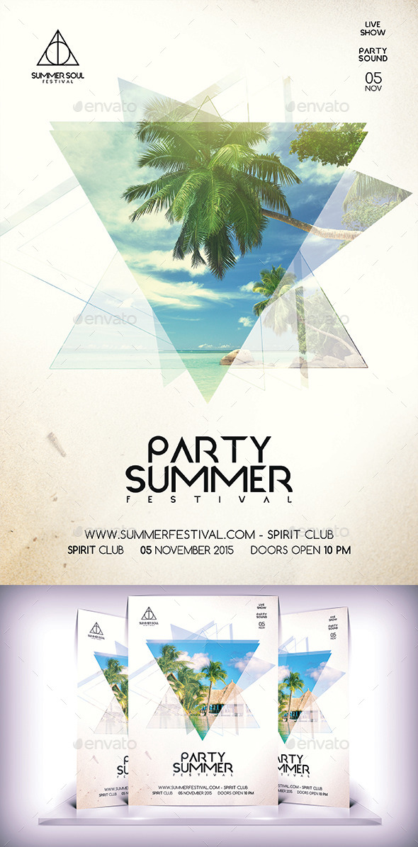 Summer Soul Party Flyer - Flyers Print Templates