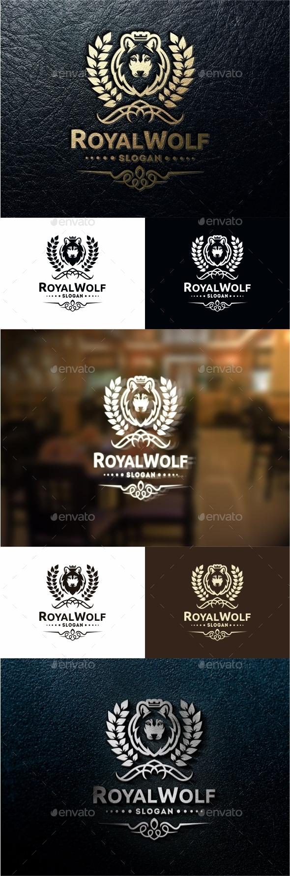 Royal Wolf - Crests Logo Templates