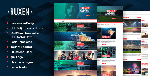 Ruxen – Responsive Blog & Magazine HTML Template