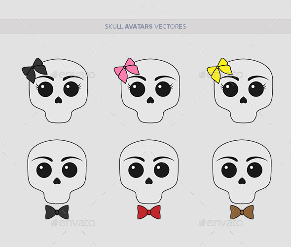 Skull Avatars Vector - Miscellaneous Characters